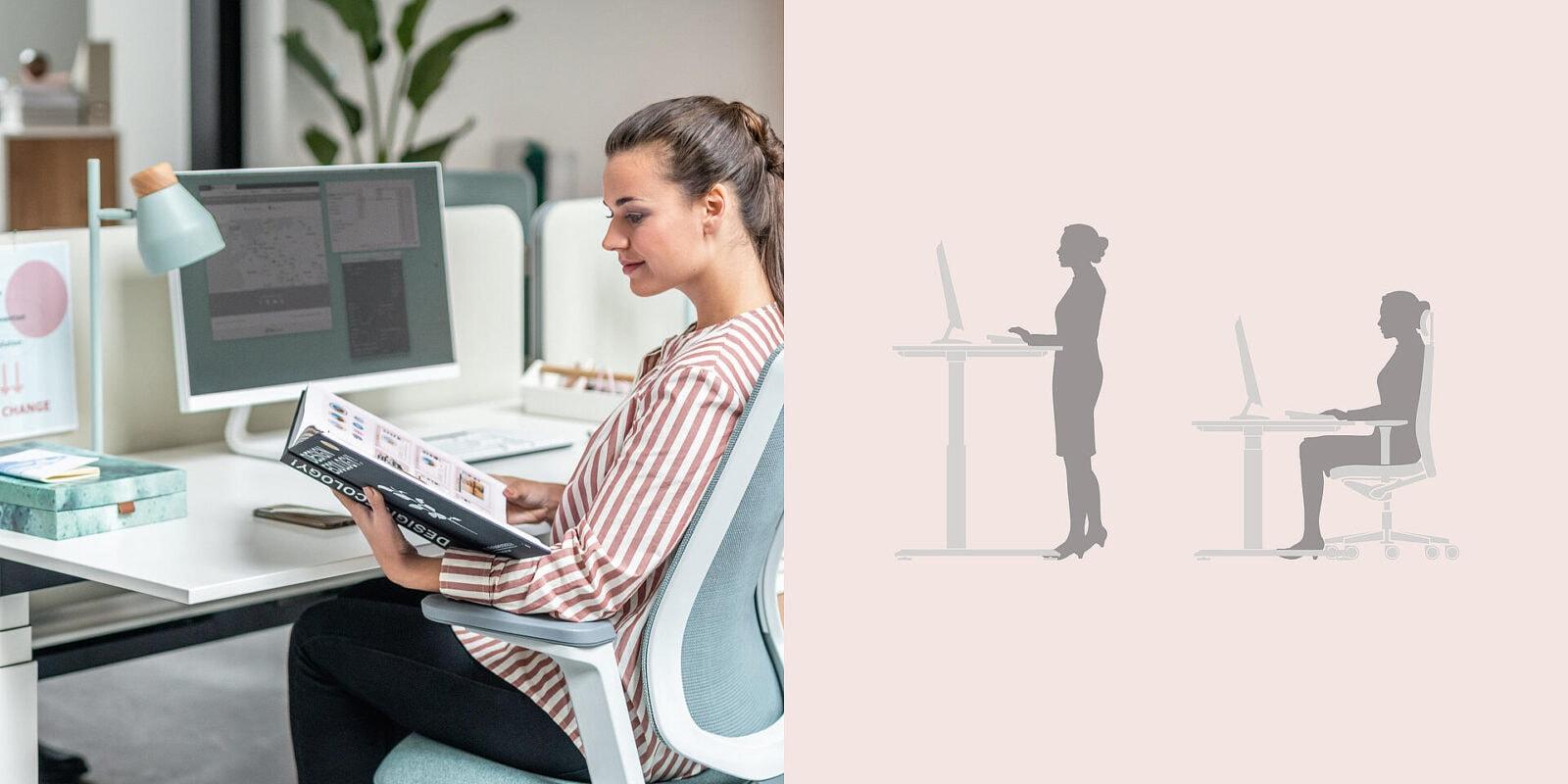 Höhenverstellbarer Schreibtisch von Sedus