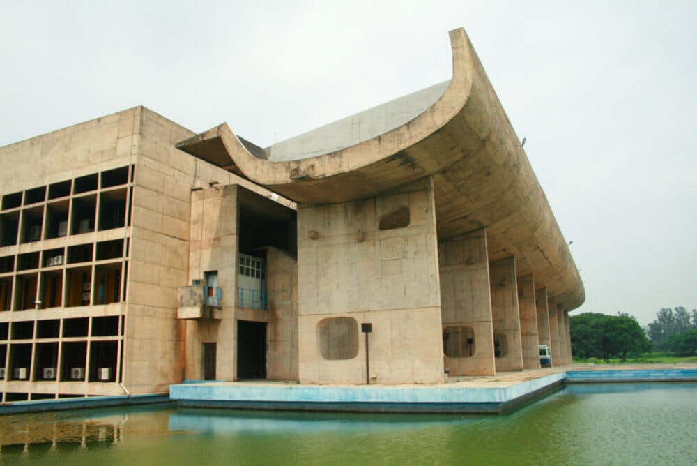 Palace of Assembly in Chandigarh - entworfen von Le Corbusier