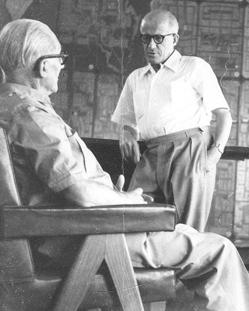 Pierre Jeanneret und Le Corbusier