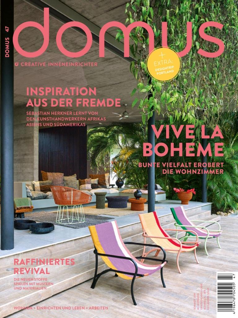 Im Domus Magazin dreht sich alles um die Themen Farben, Muster und Materialien im Boho Style.