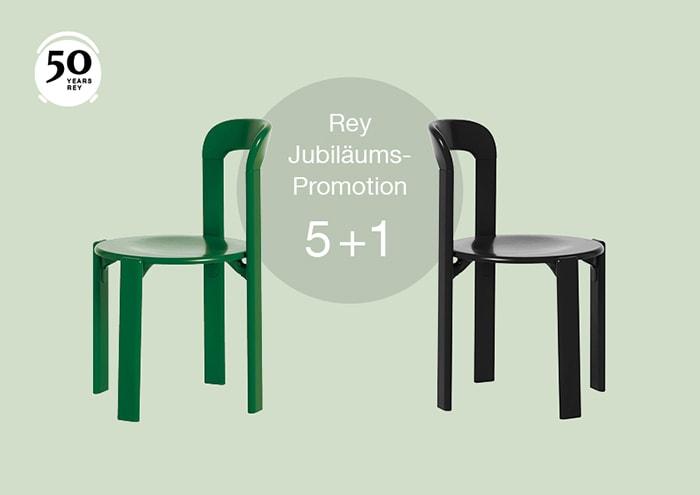 Angebot zum 50 Geburtstag: Beim Kauf von 5 Stühlen gibt es einen Stuhl gratis dazu
