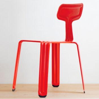 moormann pressed chair richtig rot