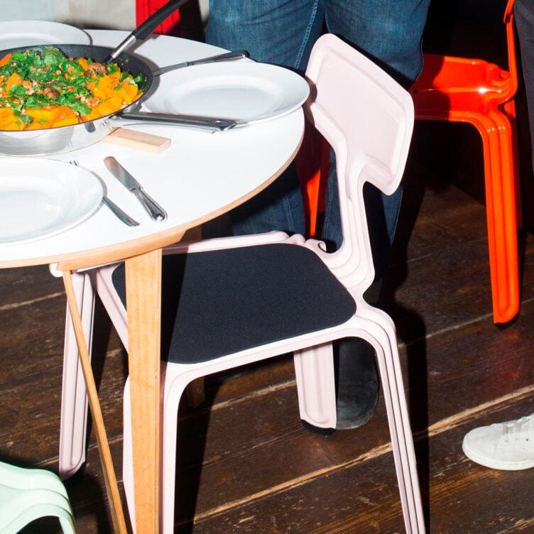 pressed chair sitzkissen filz anthrazit