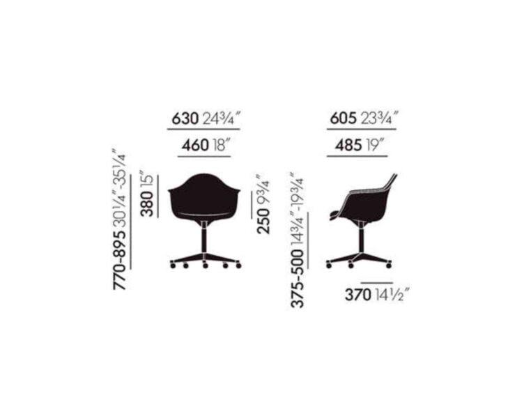 vitra eames plastic armchair buerostuhl pacc